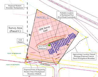 Map of Cemetery at Bryce Hospital Campus