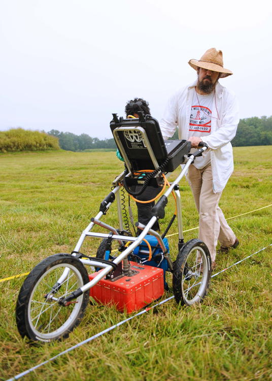OAR staff perform a GPR survey